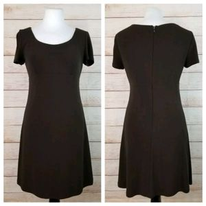 Ann Taylor 4 Brown Cap Sleeve Empire Waist Dress